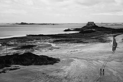 Sand Photograph - Beach At St. Malo by Hugh Smith