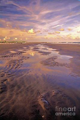 Photograph - Beach At Sunset by Debbie Green