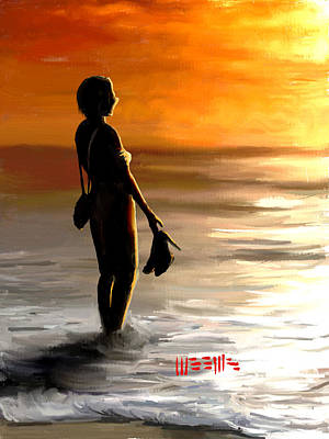 Painting - Beach At Sunset by Dillan Weems