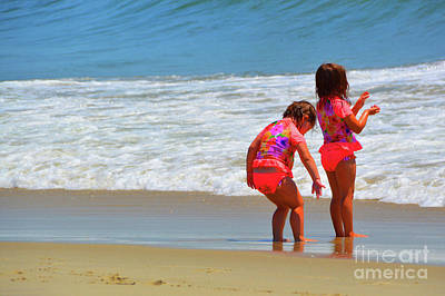 Beach Babies Cape May  Art Print by Robyn King