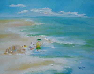 Painting - Beach Baby Builders by Judith Rhue