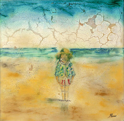 Beeswax Painting - Beach Baby by Kyle Evans