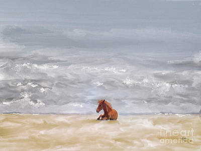 Digital Art - Beach Baby by Lois Bryan