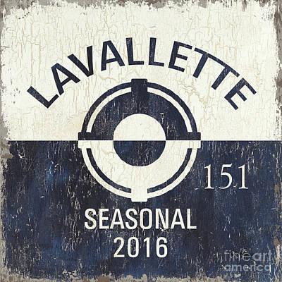 Seasonal Painting - Beach Badge Lavalette by Debbie DeWitt