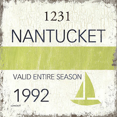 Painting Rights Managed Images - Beach Badge Nantucket Royalty-Free Image by Debbie DeWitt