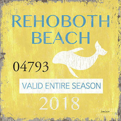 Painting - Beach Badge Rehoboth Beach by Debbie DeWitt