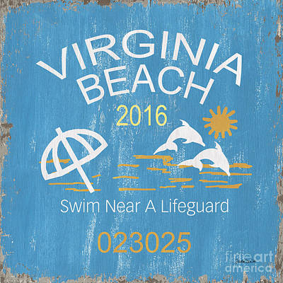 Royalty-Free and Rights-Managed Images - Beach Badge Virginia Beach by Debbie DeWitt