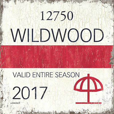 Beach Badge Wildwood 2 Art Print