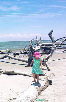 Photograph - Beach Balancing Act by Seth Weaver