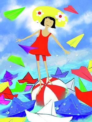 Toy Boat Digital Art - Balance by Flower Water Heaven