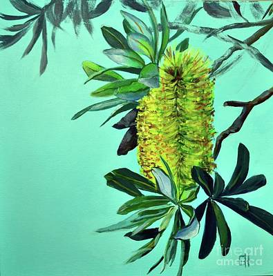 Painting - Beach Banksias by Chris Hobel