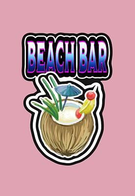 Digital Art - Beach Bar by Peggy Novak