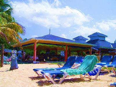 Digital Art - Beach Bar by Tom Tunnicliff