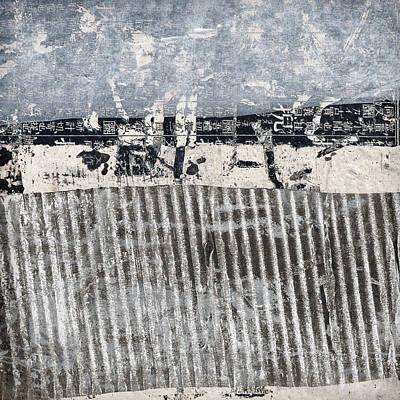 Beach Barrier Abstract Art Print