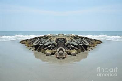 Beach Barrier Art Print