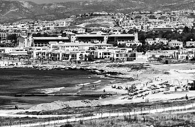Paphos Photograph - Beach Below The Mountian by John Rizzuto