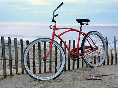 Photograph - Beach Bike by Art Cole