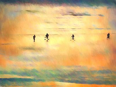 Olympic National Park Digital Art - Beach Bike by Kathy Bassett