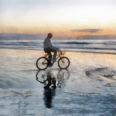 Digital Art - Beach Biker by Francesa Miller