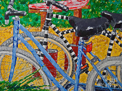 Painting - Beach Bikes  by Art Mantia