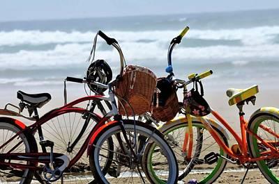 Photograph - Beach Bikes by Jerry Sodorff