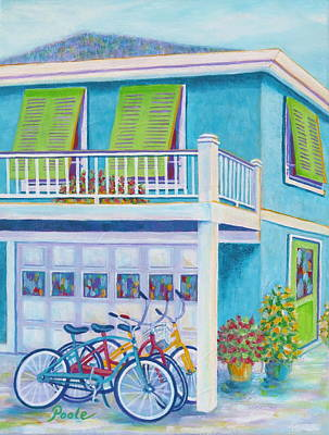 Painting - Beach Bikes by Pamela Poole