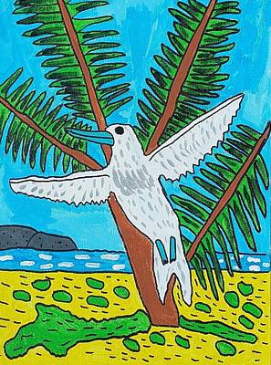 Drucker Painting - Beach Bird by Artists With Autism Inc