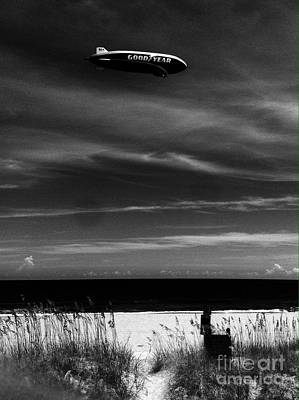 Photograph - Beach Blimp by WaLdEmAr BoRrErO