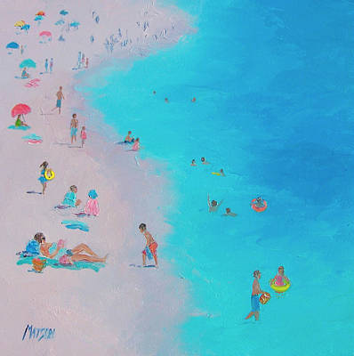 Beach Bliss Art Print by Jan Matson