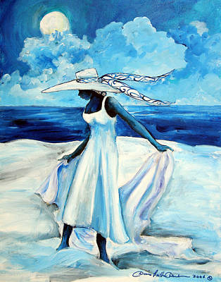 African American Art Painting - Beach Blues by Diane Britton Dunham