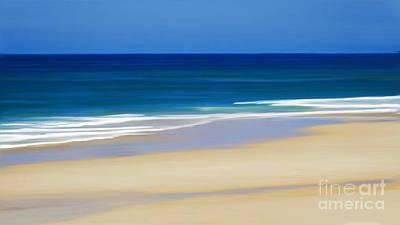 Mixed Media - Beach Bluess by Anthony Fishburne