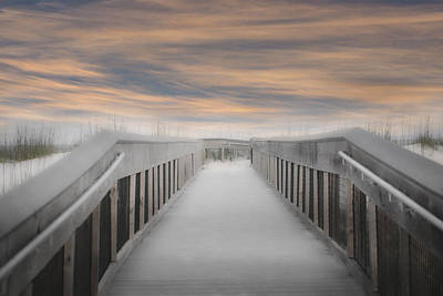 Beach Boardwalk Art Print