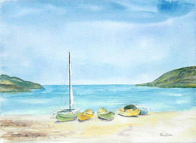 Painting - Beach Boats by Diane Kirk