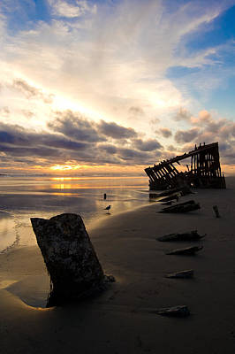 Peter Iredale Photograph - Beach Bones by Jennifer  Owen