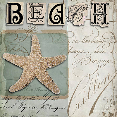Beach Book II Art Print by Mindy Sommers