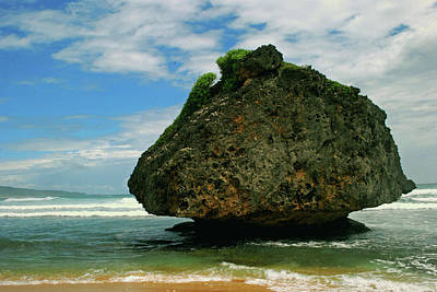 Photograph - Beach Boulder by Gary Wonning