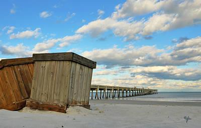 Photograph - Beach Boxes by Arthur Fix