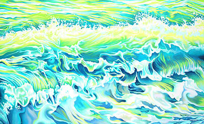 Painting - Beach Break Wave by Tish Wynne