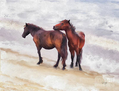 Digital Art - Beach Buddies by Lois Bryan