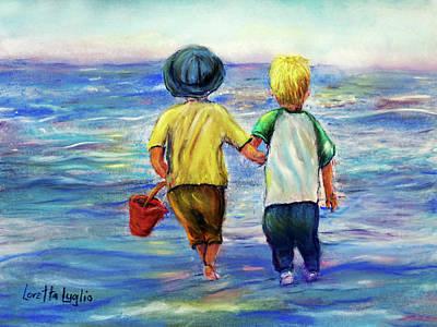 Pastel - Beach Buddies by Loretta Luglio