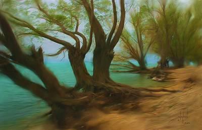 Beach Landscape Mixed Media - Beach Buddies by Stephen Lucas