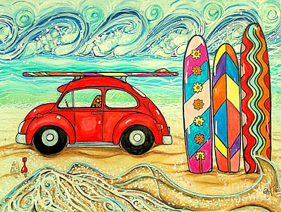 Beach Bug Art Print