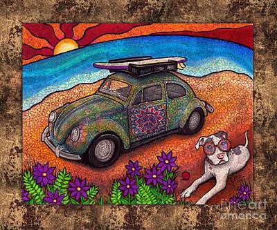 Beach Bum Original by Julie Oakes