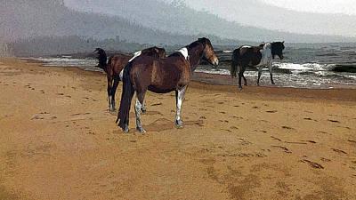 Digital Art - Beach Bums by Joyce Wasser