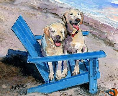 Painting - Beach Bums by Molly Poole