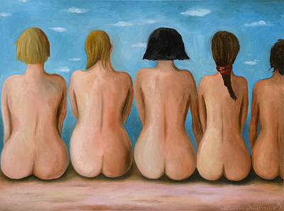 Beach Model Painting - Beach Bums Pro Photo by Leah Saulnier The Painting Maniac