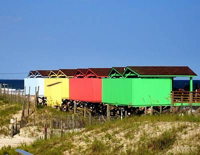 Photograph - Beach Cabanas by Deborah  Crew-Johnson