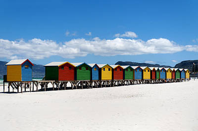 Cape Town Photograph - Beach Cabins  by Fabrizio Troiani