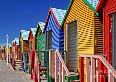 Photograph - Beach Cabins, South Africa by Wibke W