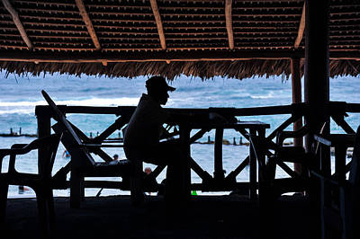Photograph - Beach Cafe, Dominican Republic 2011.  by John Jacquemain